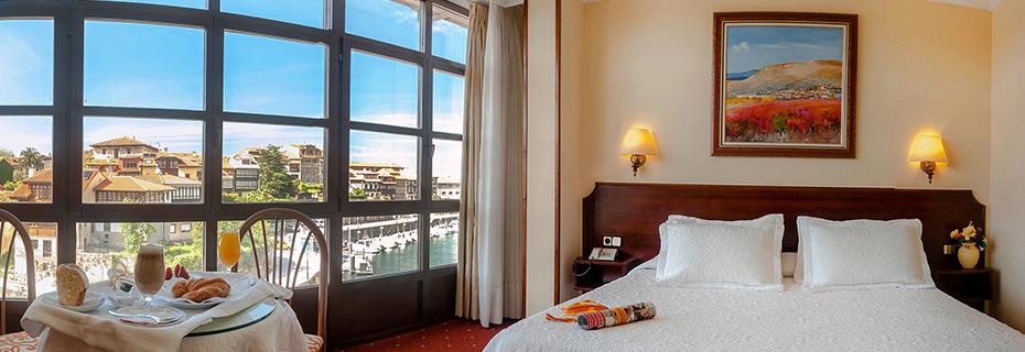 Hotel Las Rocas - habitaciones con vistas al mar Cantábrico